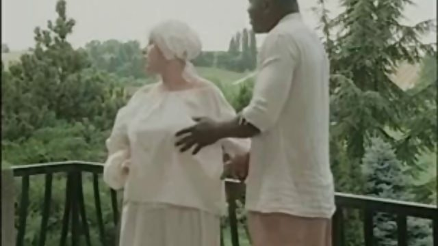 Un esclave noir et sa maitrese